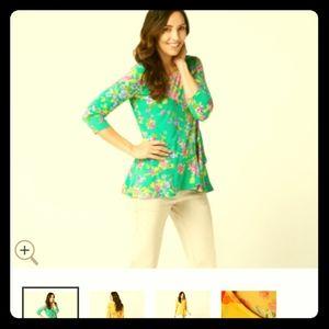 Qvc Susan Graver liquid knit blouse